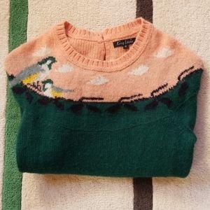 RARE Vintage-style King Louie tit bird Sweater